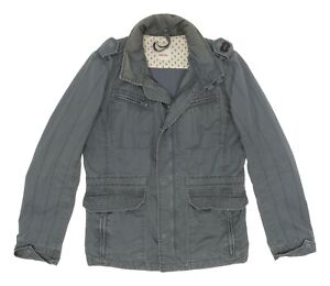 DIESEL Jacket L Large Womens Dark Olive Green MILITARY Field Jacket Waxed Cotton