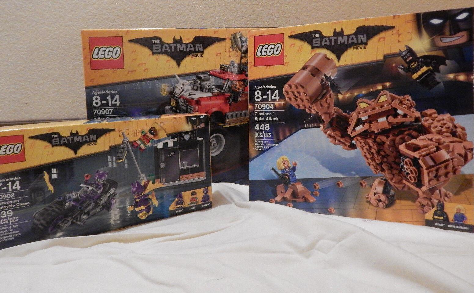 LEGO Batman Movie 3 Set Lot  70902 70904 70907 Clayface Croc Catwoman New
