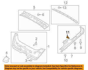hyundai oem 12 16 veloster liftgate tailgate hatch side trim hanger rh ebay com F150 Tailgate Parts Diagram of Ford Tailgate