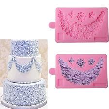 Lace Flower Border Silicone Fondant Candy Cake Decorating Sugarcraft Baking Mold
