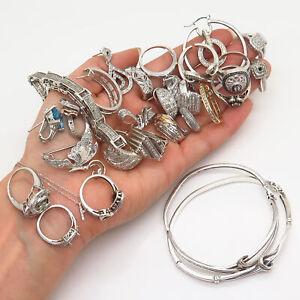 925 Sterling Silver Real Diamond Gems