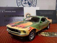 Franklin Mint 1969 Mustang Boss 302..1:24..rare Dragon Power..nib..mint..docs