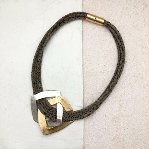 Details about  /Gold Plated Necklace Classics With A Twist Jewelry Handmade Made By Women Israel