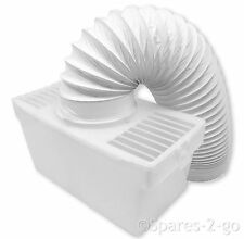 WHITE KNIGHT Tumble Dryer Vented Condenser Box Kit + Vent Hose Pipe - Mountable