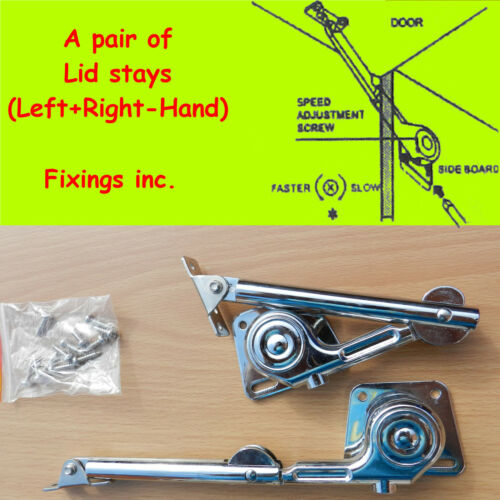 Lid Stays Pair of Soft Close Brake Arm,Torsion Hydraulic Adjustable Hinge 2x