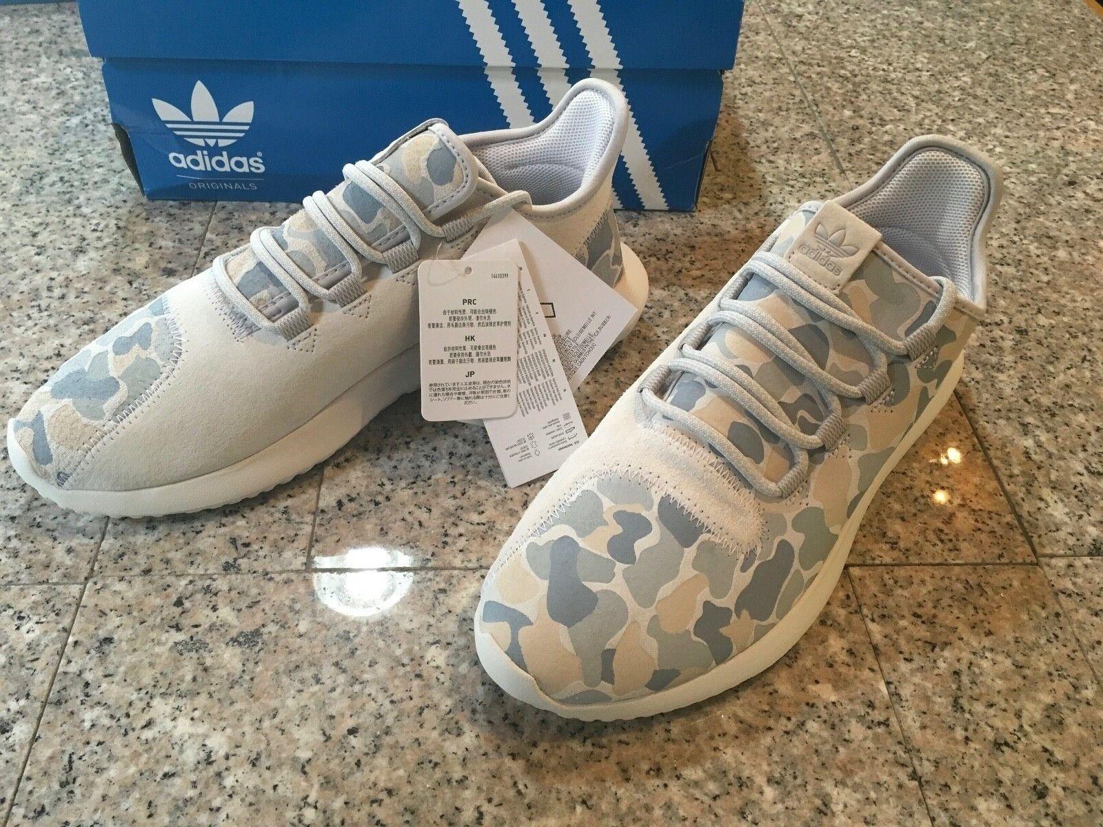 ADIDAS Originals TUBULAR SHADOW BB8817 Suede Camo Vintage White NEW Sneakers 9.5