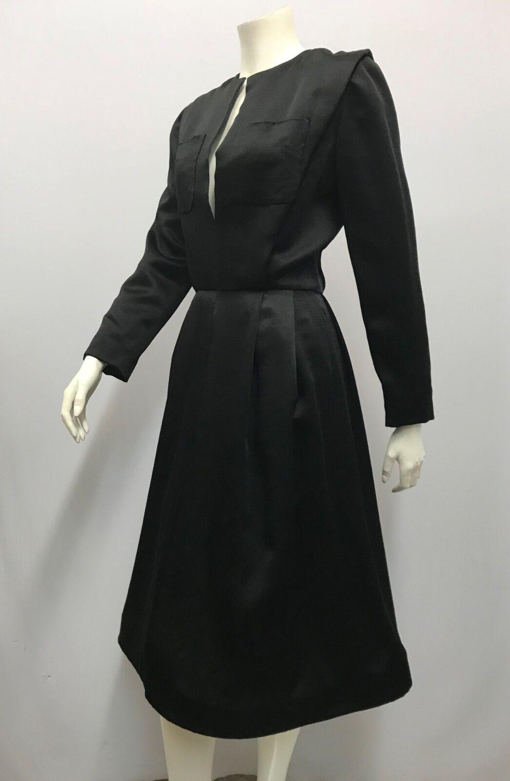 VINTAGE SCAASI BOUTIQUE DRESS COCKTAIL DRESS BLAC… - image 2