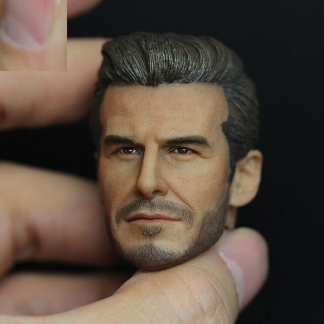 █ Custom David Beckham 1/6 Head Sculpt Hot Toys Narrow Shoulder Muscular Body █