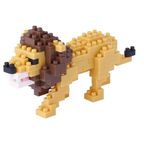 Lion Nanoblock Miniature Building Blocks New Sealed Pk NBC 170