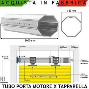 Palo-Avvolgi-Telo-Tapparella-Rullo-Tubo-Asse-Albero-Ottagonale-60-Lungo-2-metr