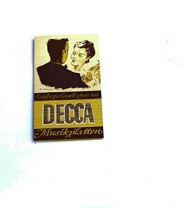 """Periodika & Kataloge k106 Nett Decca Musikplatten Katalog """"gepflegte Gesseligkeit"""""""