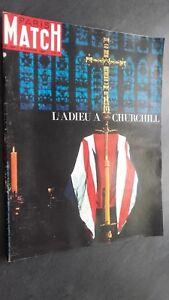 Rivista-Parigi-Match-N-826-Febbraio-1965-L-039-Addio-A-Churchill-ABE