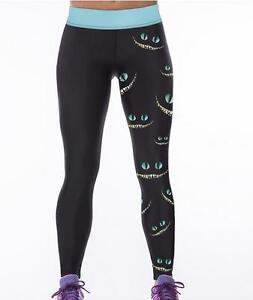 Stylish Women Leggings Cheshire Cat Printed High Waist Wide Belt Legging S-3XL