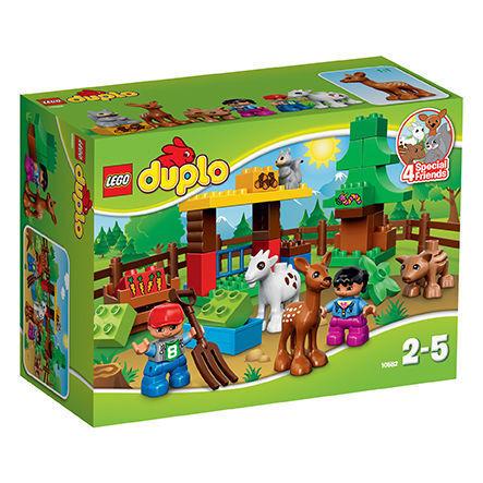 LEGO DUPLO 10582 - Wildtiere - Eichhörnchen, Rehkitz, Wildschwein und 2 Figuren