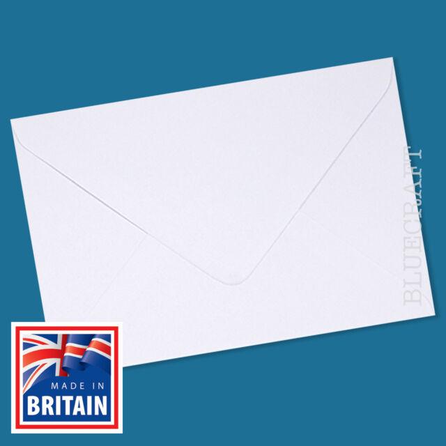 50 x C5 A5 Diamond White 100gsm Envelopes - Greeting Cards, Wedding Invites