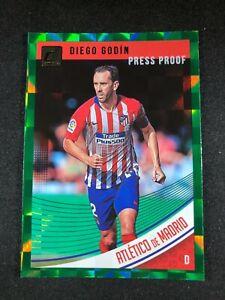 2018-19 Panini Donruss Soccer Diego Godin Atletico Madrid #49 Green Press Proof