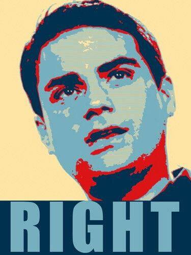 vote pro president conservative 3x5 inch Ben Shapiro Obamanized RIGHT Sticker
