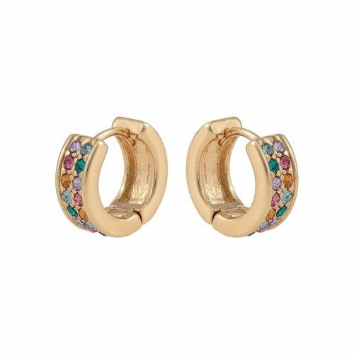 Oliver Bonas Women Thebe Multicoloured Disco Huggie Hoop Earrings