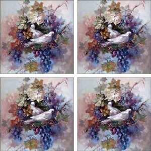 Grapes-Doves-Accent-amp-Decor-Tile-Set-Taite-Ceramic-Backsplash-POV-FPT001AT