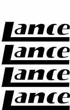 LANCE 4 pc Camper RV Vinyl Decal Sticker Camper Graphics Stickers