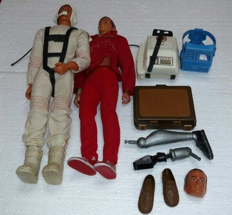 VINTAGE SIX MILLION DOLLAR MAN 2 FIGURE LOT