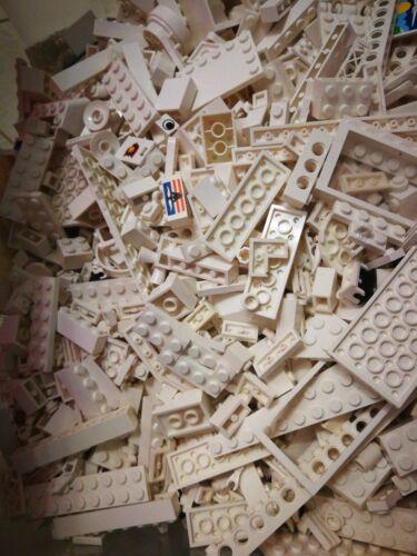 Steine Konvolut Platten 1 Kg LEGO gemischt Weiß Sondersteine Kiloware