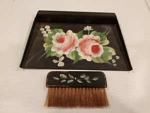 Metal Brush and Dustpan Set Brass Table Brush and Pan Crumb Brush Crumb Sweeper Table Broom