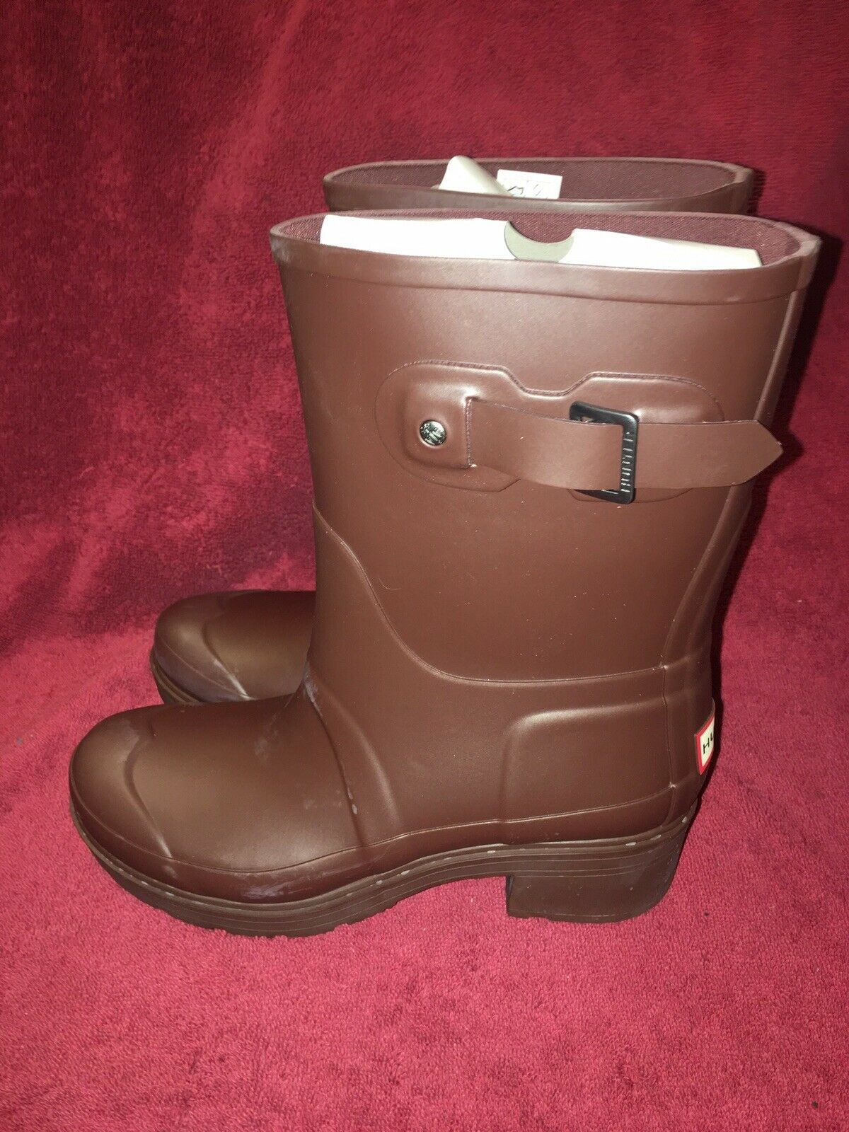 Vintage Hunter Rubber Boots Brown Mens 6 Women 7 7 7 3cf9a3