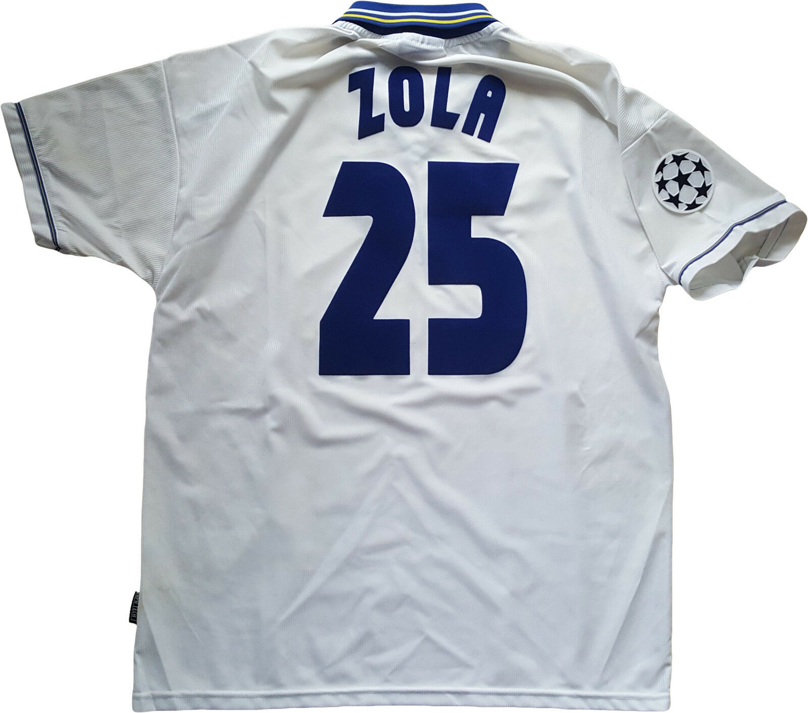 Maglia Zola Chelsea Umbro 1999 2000 away Jersey Autoglass Player issue Uefa UCL