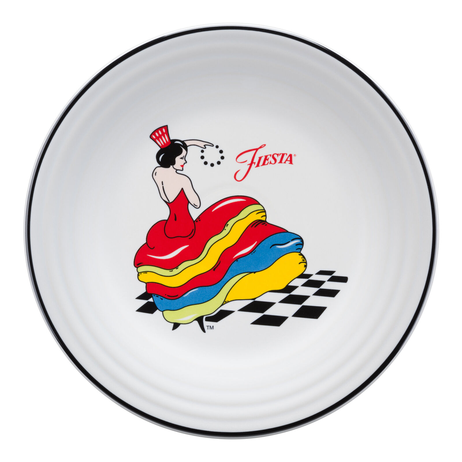Fiesta Dancing Lady Dinner Plate FIE4127