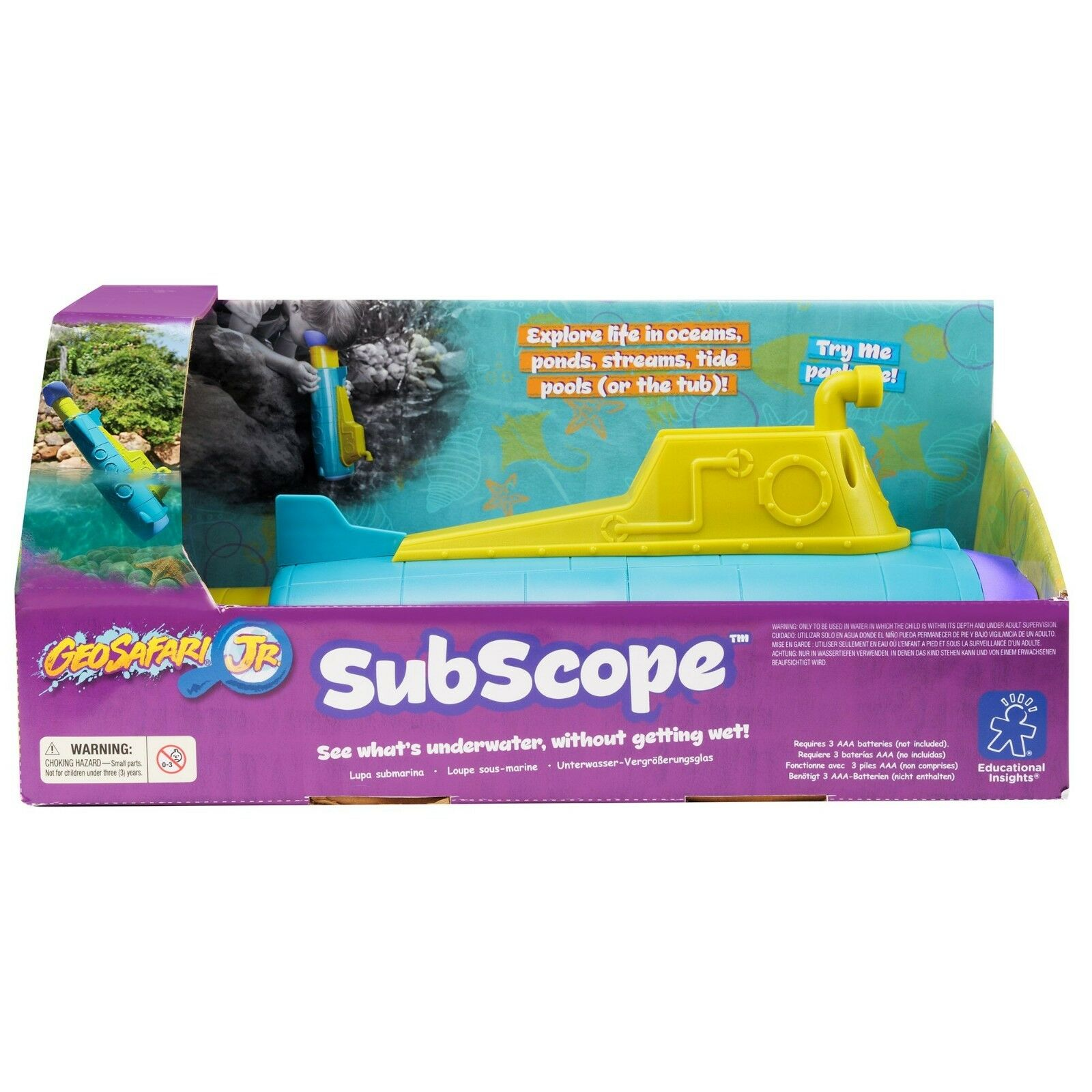 Educational Insights GeoSafari Junior SubScope STEM Learning Toy See Underwater