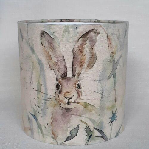 Voyage maison Jack Rabbit tissu campagne Lièvre Linge Tambour Abat-jour 15-45 cm