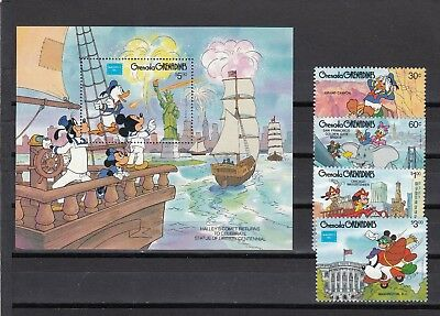 Brave Grenada Grenadines Ameripex Sg757-ms761 Mnh 1986 Disney Cartoon Characters Making Things Convenient For The People