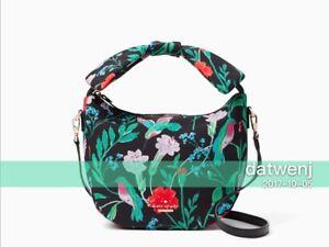 NWT-Kate-Spade-HARING-LANE-JENY-Bow-Satchel-Crossbody-Bag-Floral-Black-Multi
