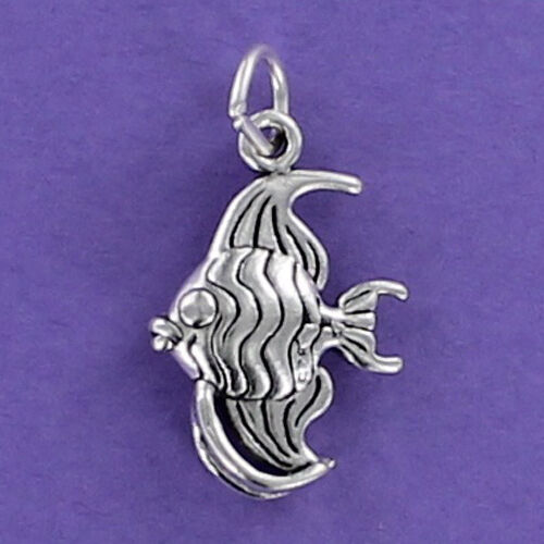 STERLING SILVER ENAMELLED ANGEL FISH TRIGGER CLASP CHARM