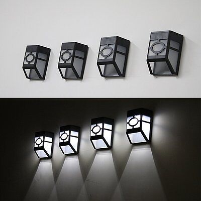 Solar Powered Wall Mount LED Light Lamp Outdoor Landscape Garden Yard Fence Roof