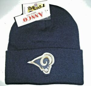 Los Angeles LA St. Louis Rams VINTAGE ANNCO NAVY Beanie  Knit Hat 1 DAY SHIPPING