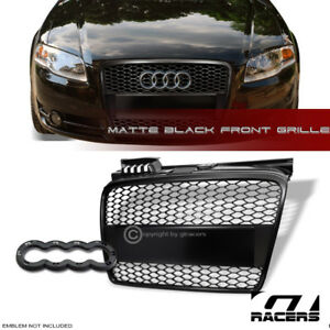 2005-2008 AUDI A4 B7 MATTE BLACK RS-MESH FRONT BUMPER GRILL GRILLE on audi s4 grill, mercedes-benz e350 grill, audi q7 grill, audi grill parts, audi a8 grill, ford transit grill, audi chrome grill inserts, 2007 a4 grill, audi tt grill, audi rs4 grill, audi q5 grill, audi billet grill, a4 b6 grill, audi q3 grill, mercedes 190e grill, audi quattro grill, bmw 745 grill, mercedes sl500 grill, audi b4 grill, 2007 audi grill,