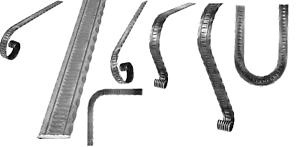 Handlauf-Flacheisen Handlaufanfang 40x10 mm Schmiedeeiserne 006