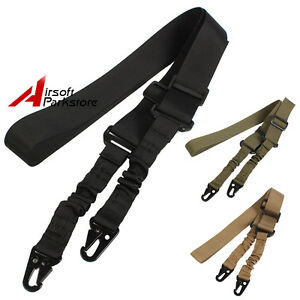 Tactical Military 1//2//3 Point Rifle Sling Strap Bungee Gun Strap Quick Release