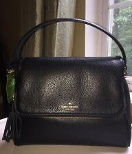 Kate Spade Miri Chester St Satchel Crossbody Bag Pebble Leather Black NWT