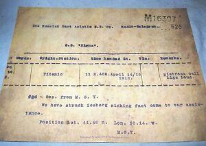 TITANIC-Distress-Call-Telegram-Ship-Historical-Vintage-Antique-Disaster-Retro-UK