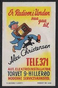Denmark Poster Stamp, Reklamemarke:  Modern Radio Repair, Markat #4412 - cw43.15