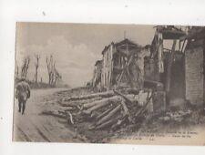 Guerre 1914-16 WW1 Bataille de la Somme Village de Curlu Vintage Postcard 103b
