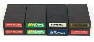 Lot-of-8-Mattel-Intellivision-Video-Game-Cartridges-Night-Stalker-Space-Spartans