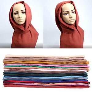 Women-Shimmer-Scarf-Chiffon-Hijab-Pleated-Scarves-Shawl-Muslim-Head-Wrap-Muffler