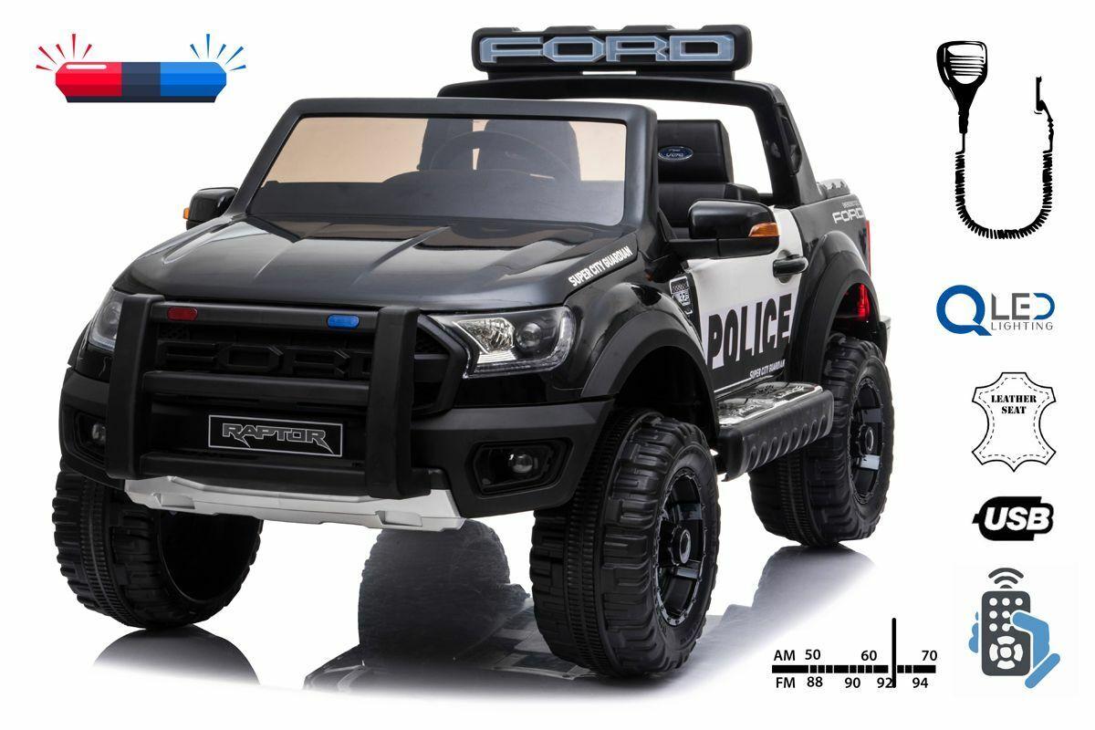 Elektro Kinderfahrzeug Polizeiauto 2 Sitzer Ford Raptor lizenziert - Elektroauto