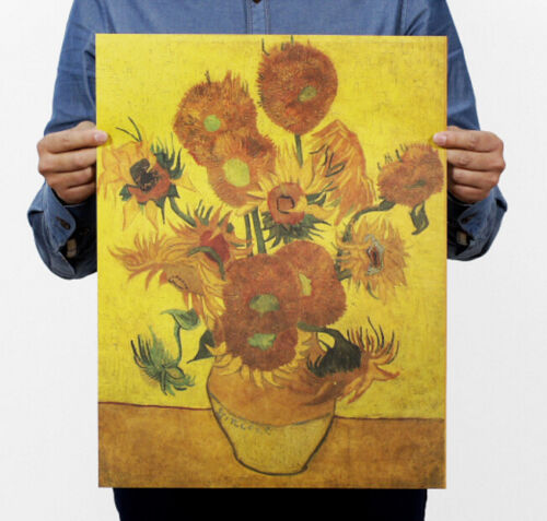 FD3320-Retro-Vincent-Oil-Painting-Vase-with-Fifteen-Sunflowers-Art-Post-47-35CM