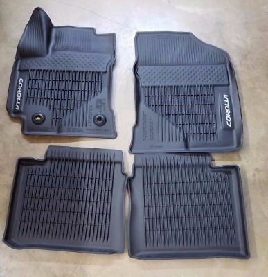 2020 Toyota Corolla Floor Mats Rubber All Weather Genuine