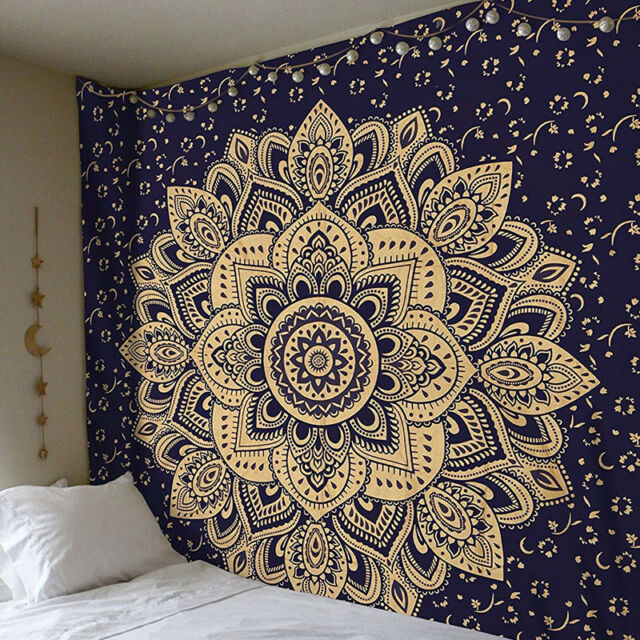 Indian Mandala Twin Tapestry Wall Hanging Wall Decor Hippie Tapestries Bohemian